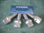 4 X GENUINE RENAULT CLIO MK2  SCENIC MEGANE  RENAULT CHROME ALLOY WHEEL BOLTS